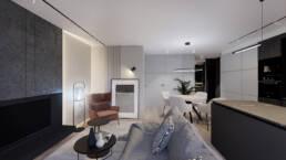 wyspa kuchenna_projekt_czarna wyspa_male mieszkanie_jak urzadzic mieszkanie_Aranzacja_golaska studio_paulina golaska