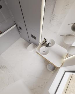 b-projekt łazienki-nowoczesna lazienka-duzee kafle-lazieenka damska
