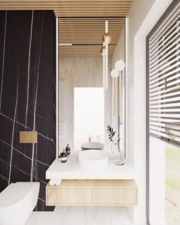 g1-projekt łazienki-nowoczesna lazienka-duze kafle-lazienka czarna-marmur-golaska studio-zielona gora achitekt