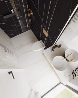 g3-projekt łazienki-nowoczesna lazienka-duze kafle-lazienka czarna-marmur-golaska studio-zielona gora achitekt