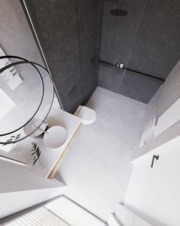 m2-projekt łazienki-nowoczesna lazienka-duze kafle-lazienka czarna-marmur-golaska studio-zielona gora achitekt