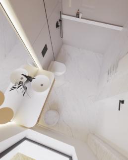 n2-projekt łazienki-nowoczesna lazienka-duze kafle-lazienka damska-golaska studio-zielona gora achitekt